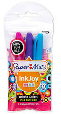 PAPERMATE INKJOY MINI BRIGHT COLORS  MEDIUM POINT BALLPOINT PENS PACK OF 3 NEW