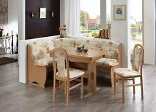 Eckbankgruppe Tessin 4 teilig mit Wangentisch Buche Sandfarbig Bankgruppe Stühle