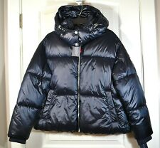 NWT WOMENS TOMMY HILFIGER NAVY PUFFER PADDED JACKET COAT...