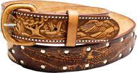 Rindsleder Wechselgürtel Gürtel Adler Gürtelschnalle Buckle Belt Made in Mexico