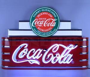 COCA-COLA - NEW DESIGN - LARGE ART DECO NEON SIGN - NEON - BRAND NEW