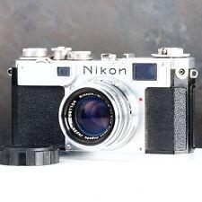 :Nikon S2 35mm Film Rangefinder Camera w/ Nikkor-HC 5cm 50mm f2 Lens