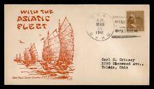 DR WHO 1941 USS OAHU NAVAL SHIP YANGTZE PATROL USCS CACHET PREXIE  f50958