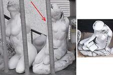 Steinfigur Mädchen Frau Geheimnisvolle 20cm 6,5kg Handarbeit grau-patiniert. NEU