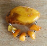 Natural Vintage 2.65 gr Butterscotch Egg Yolk Baltic Amber Earrings