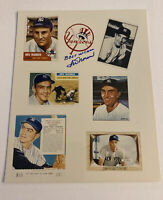 IRV NOREN SIGNED PHOTO 8x10 GTP AUTOGRAPH CARD COLLAGE NEW YORK YANKEES