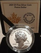 2021 Lady Peace PAX Dollar Nation $1 1OZ PureSilver Proof Coin Canada Sea to Sea