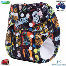 1 x Star Wars Reusable Adjustable Cloth Nappy With Insert