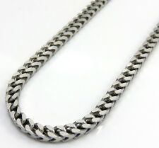 "22"" 2.5mm 19 Gram Mens Ladies White Gold Sterling Silver Franco Italy Made Chain"