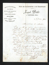 "TORTERON (18) BOIS de CHARPENTE & de CHAUFFAGE / SCIERIE ""Joseph PORTE"" en 1901"