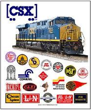 RAILROAD TIN SIGN - CSX Railroad Heritage / Train Wall Art / Collectible