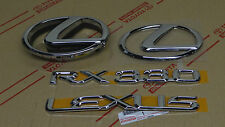 04-06 NEW LEXUS RX330 CHROME COMPLETE EMBLEM KIT NORTH AMERICAN BUILT 2T VIN