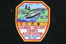 SABINE-NECHES CHIEFS ASSOCIATION PATCH SNCA MUTUAL AID GROUP EST.1949 FIRE DEPT.