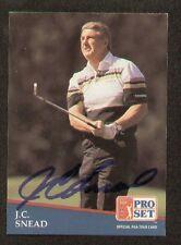 J.C. Snead signed autograph 1991 Pro Set Golf No. 248