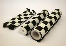 BMX BLACK & WHITE CHEQUERED PAD SET 3 PC FRAME,HANDLEBAR & STEM OLD SCHOOL BMX