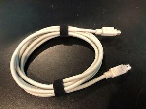 Genuine Apple 7ft 2M DIN-8 Serial Cable Macintosh IIgs Printer A+ Cond DIN8 M/M