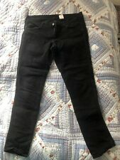 H&M Skinny Low Waist Black Jeans 33 32
