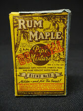 Vintage 1939 Rum & Maple Pipe Smoking Tobacco Package Small 3/8 oz Size Nice