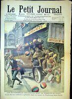 Le Petit Journal N°974 du 18/7/1909 Les automobiles des postes sont la terreur