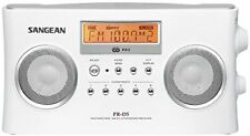 Sangean PR-D5 tragbares Radio, Wecker, AUX Eingang, UKW / MW, weiß