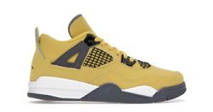 Nike Air Jordan 4 Retro Lightning Tour Yellow Size 11C PS BQ7669-700 New IN HAND