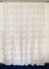 French Shabby Chic Curtains Ruffled White Girls Room Nursery Tab Top 110x220cm