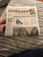 VEGAS GOLDEN KNIGHTS Newspaper  Sweep Round 1 Review Journal 4/18/18