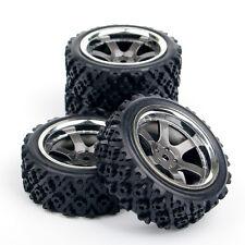 4Pcs Rubber Rall Tires Wheel Rim PP0038 For HSP HPI RC 1:10 Racing Off Road Car