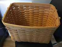 Longaberger Newspaper Basket 2000 w/ Leather Handles FREE Shipping