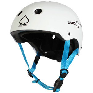 PRO-TEC HELMET JUNIOR CLASSIC FIT CERTIFIED WHITE YOUTH SIZE PROTEC FREE POST