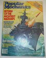 Popular Mechanics Magazine Return Of The Mightiest Warships June 1982 020615R