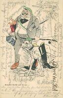 Ansichtskarte Studentika 1904 Bemoster Bursche ... abgest. Stuttgart   (Nr.754)