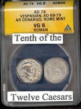 ROMAN EMPEROR VESPASIAN  (AD 69 - 79)  ANACS VG 8  PLEASE LQQK!!!!!!!!!!!!!