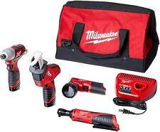 Milwaukee 2498-25 M12 Li-Ion 5-Tool Combo Kit New - FreeShipping