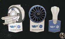 SOCHI Russia 2014 Olympic GE ( General Electric )  XL sponsor rare 3 pin set