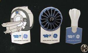 SOCHI Russia 2014 Olympic GE ( General Electric )  XL rare 3 pin sponsor  set
