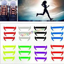 12Pcs Silicona Elástico Cordones De Zapatos Sin Lazo Cordón Zapatilla de deporte