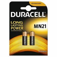 2 x DURACELL ALCALINA MN21 A23 12 V BATTERIA 23 A LRV08 K23A E23A,