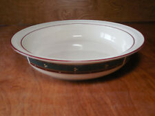 """Lenox Chinastone COUNTRY LODGE 9"""" x 2"""" Round Vegetable Serving Bowl Green"""