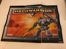"Mechwarrior Super Nintendo SNES 2-Sided Poster 15""x11"" (Some Damage)"