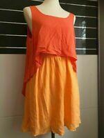 BCBGeneration | Damen Kleid (Gr.M / Orange) Sommerkleid Marke BCBG | Rückenfrei