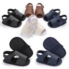 Summer Baby Boys Sandals Crib Shoes Soft Sole First Walker Antislip Prewalkers