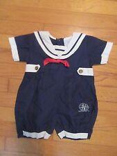 BEBE GLYNNE PERCY Sailor Bubble/Shortall/Romper Size 6 months