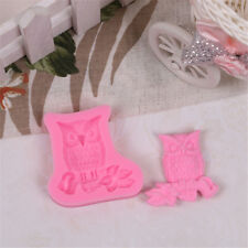 New Arrival Owl shape fondant mold cake decoration tools soap candle mould P&T