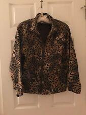 Vintage Silk Leopard Bomber Jacket Windbreaker Sz PS