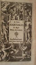 Martial M. Val Martialis, ex Museo Petri Scriverii  ELZEVIR