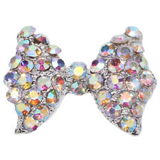 10Pcs 3D Rhinestone Bow Tie Shape Nail Art Tip Glitter Decor DIY Manicure Pretty