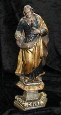 Heilige Maria Magdalena mit Totenkopf 18.Jahrhundert Holz, geschnitzt