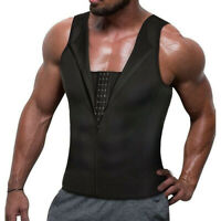Mens Shapewear Tank Lumbar Support Liposuction Compression Garment Control Top