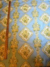 "6 yard Bolt 36"" wide Vintage WAVERLY ""TURNBULL HOUSE"" Cotton Fabric-Blues&Yellow"